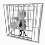 Agoraphobia treatment (man in a cage).