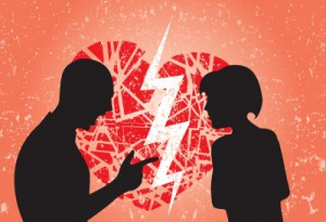 Fear of commitment: what can you do about it. (a couple arguing).